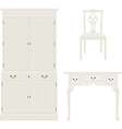Vintage white furniture vector image