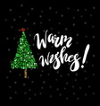 Warm wishes vector image vector image