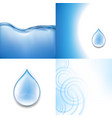 water backgrounds set vector image vector image