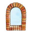 watercolor brick arch european style vector image