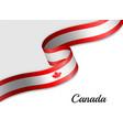 waving ribbon flag vector image