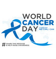 world cancer day element vector image vector image