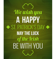 Saint Patricks Typography poster vector image