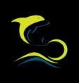 dolphin logo design template vector image