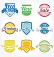 Sales New Premium Quality Labels set vector image