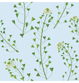 weed pattern vector image