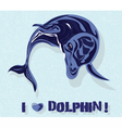 Dolphin watercolor vector image