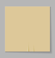 A sheet of paper on a gray background vector image vector image