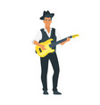 acoustic guitar musician vector image vector image