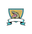 Alligator Snapping Crest Retro vector image vector image