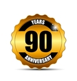 Anniversary Gild Label Sign Template vector image