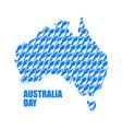 Australia Day Map of Australia from kangaroo vector image
