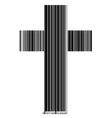 bar code in a cross vector image