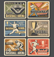 baseball sport arena grand cup tournament vector image vector image