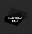 black friday sale banner on black background vector image vector image