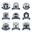 Bodybuilding Labels Set vector image