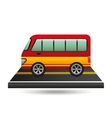 bus transport red and yellow design vector image vector image