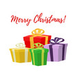 cartoon set of gifts in box presents boxes vector image