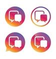 Chat sign icon Speech bubble symbol