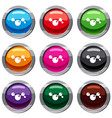 chemical and physical molecules set 9 collection vector image vector image