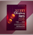 christmas party celebration flyer design template vector image vector image
