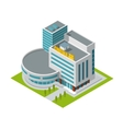 Cinema building isometric vector image vector image