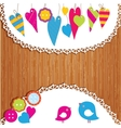 Colorful buntings garlands and paper vector image vector image
