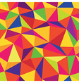 colorful triangle seamless pattern vector image vector image