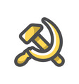communism hammer and sickle icon cartoon vector image