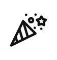 confetti iconsurprisecelebration symbol flat sign vector image vector image