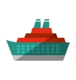 cruise ocean ship travel maritime shadow vector image vector image