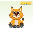 Cute Cartoon Red Lynx Funny Animal vector image vector image