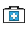 cute medical bag cartoon vector image vector image