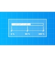 Digiral download bar on a blueprint background vector image