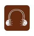 earphone wire music icon vector image vector image
