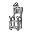 electric chair sketch engraving vector image vector image