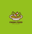 farm food logo vector image