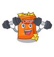fitness snack food sticks chisp on cartoon vector image