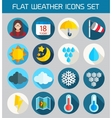Flat weather Icons Set for Web and Mobile vector image vector image