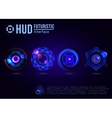 Futuristic HUD interface elements vector image vector image