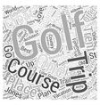 Golf Trip Word Cloud Concept vector image vector image