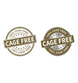 grunge stamp and silver label cage free vector image vector image