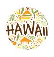 hawaii banner template summer paradise tropical vector image