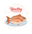 healthy seafood concept vector image vector image