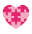heart in puzzle pieces icon vector image vector image