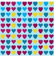 hearts pattern on blue background vector image