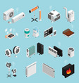 home climate isometric set vector image vector image