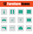 home furniture icon set vector image