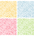 irregular concentric circles pattern set vector image