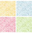 irregular concentric circles pattern set vector image vector image